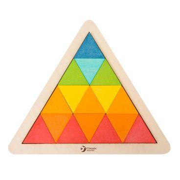 Купить Деревянная мозаика-треугольник по карточкам Classic World