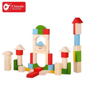 Купить Деревянные блоки-конструктор Classic World