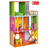 Современный деревянный кукольный домик Classic World