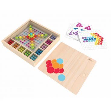 Купить Мозаика-конструктор Волшебные шарики в деревянной коробке Classic World