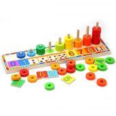 """Игра """"Колечки"""" учим цифры и счет."""
